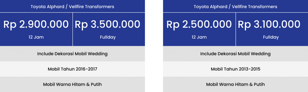 Harga Sewa Mobil Pengantin di Depok